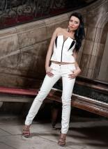 Spodnie rurki skóra eko spodnie rurki legginsy