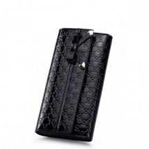 Uroczy portfel z kokardką Czarny