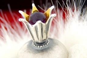 Unikatowe pierścienie z bursztynu i kamieni półszlachetnych - Pierścień Baśń I