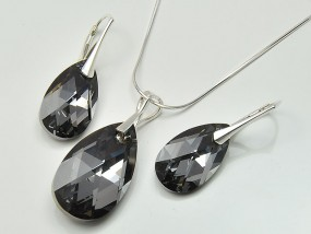 Srebrna biżuteria Swarovski sklep migdał Silver Night