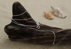Łańcuszek srebrny, żyłka 45cm