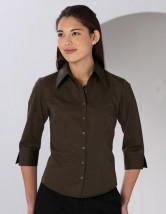 Koszula damska z długim rękawem Women's Poplin Shirt Black Tie Long Sleeve