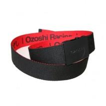 Dwukolorowy pasek parciany OZOSHI czarny/czerwony