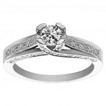 Złoty pierścionek z brylantami PB/040a