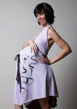 Sukienka do porodu MARZĘ O COFFEE