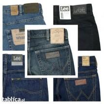 Wrangler & Lee spodnie jeans -regular-bootcut-texas-brooklyn-classic