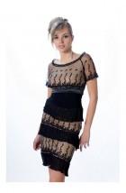 Sukienka koktajlowa z czarnej koronki