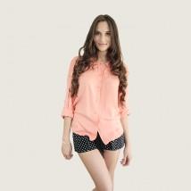 Koszula brzoskwiniowa, damska na lato