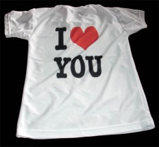 Tshirt sublimacja I love