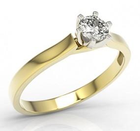 Pierścionek zaręczynowy ze złota z brylantem 0,27ct H/Si1 LP-80ZB