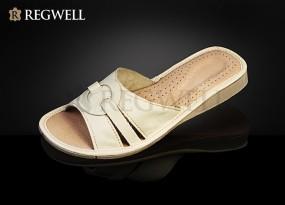 Pantofle skórzane damskie RDO 001-rozmiar 36