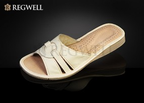 Pantofle skórzane damskie RDO 001-rozmiar 37