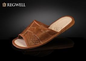 Pantofle skórzane męskie RMO 033 - rozmiar 40
