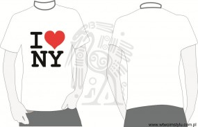 T- shirt  z bawełny I love NY