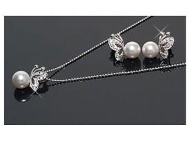 Zestaw biżuterii KOMPLET BIŻUTERII KOLCZYKI  NASZYJNIK PREZENT