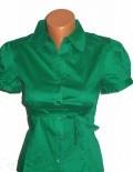 Bluzka z kołnierzykiem-XL-zielona