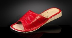 Pantofle skórzane damskie RDO 009-rozmiar 35
