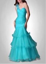 Uderzająco piękna Suknia wykonana z Organzy i Satyny ze spódnicą d Z0004