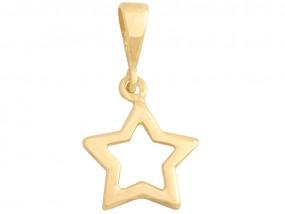 Złoty wisiorek gwiazda 585 gwiazdeczka pudełko gratis 9979