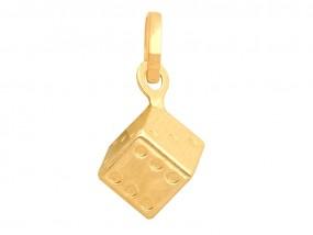 Złoty wisiorek 585 kostka kwadrat 14kt gratisy -30% 9959