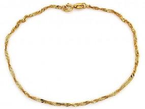 Złota 0.58g bransoletka 333 singapur łańcuszkowa 18cm prezent 13601