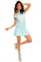 Bawełniana sportowa sukienka z sercem Nicky Dress NA15