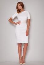 Ekskluzywna sukienka ze skórzanym paskiem Sophie m204
