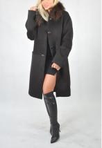 Ekskluzywny płaszcz damski z kaszmirowej wełny