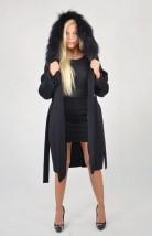 Elegancki zimowy płaszcz damski z bardzo dobrej gatunkowo wełny Margaret