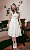 Krótka koronkowa sukienka ślubna - Natasza