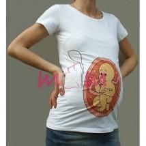 Koszulka ciążowa z nadrukiem