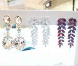 kolczyki pozłacane z kryształami