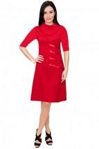 Czerwona sukienka damska na co dzień