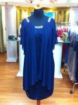 Jasno-granatowa sukienka wizytowa w małych i dużych rozmiarach