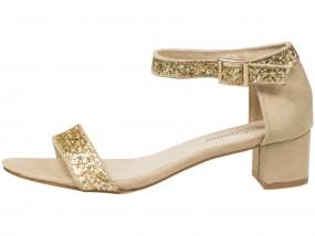 Sandały damskie na słupku z paskiem LEI-93