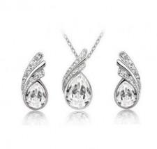 Srebrny komplet biżuterii KROPLE