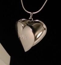 Srebrne Serce Otwierane LOVE 925