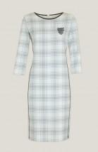 Sukienka biurowa lamowana skórą karina