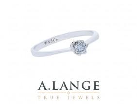 Pierścionek białe złoto z brylantem pierścionek zaręczynowy