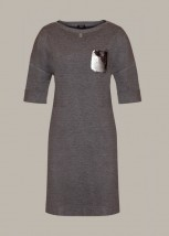 Biurowa sukienka damska w kolororze ciemno-szarym - Judy