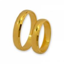 Klasyczne półokrągłe obrączki polerowane z żółtego złota J121