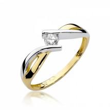 Wyjątkowy 2-kolorowy pierścionek zaręczynowy. BD-W191