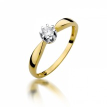 Pierścionek zaręczynowy z diamentem BD-W228