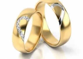 Obrączki ślubne ze złota S315