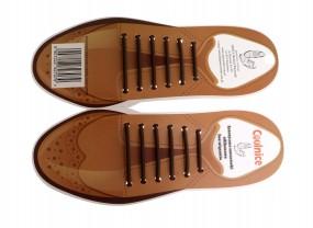 Sznurówki silikonowe męskie do pantofli