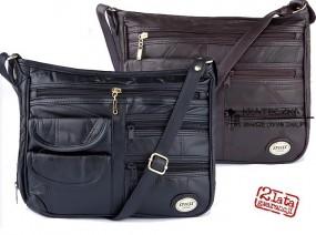 Damska torebka z cielęcej skórki marki Spiess wiele kieszeni F38