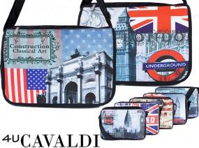 Młodzieżowa torba z motywem ulic Londynu streetwear F36