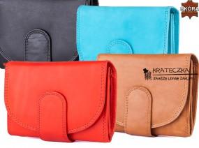 Damski portfel ze skóry naturalnej firmy Bag Street F80