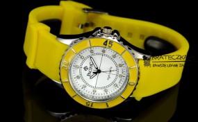 Damski silikonowy zegarek marki Pacifik - żółty  F56