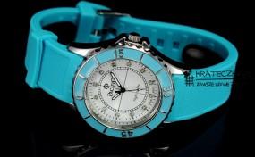 Damski silikonowy zegarek marki Pacifik - niebieski - F56